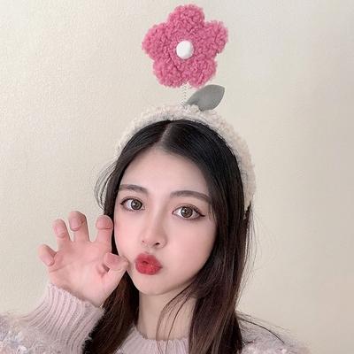 洗脸发箍女韩国网红毛毛五角星花朵头箍压发防滑发卡百搭外出头饰
