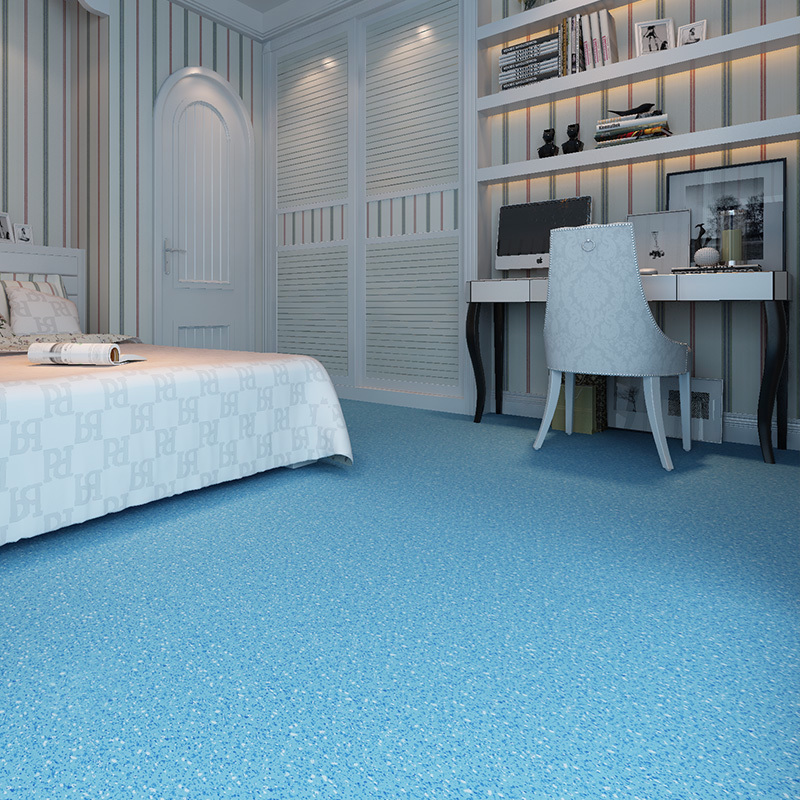Bedroom floor paste cement directly paved marble floor plastic floor home thick wear-resistant waterproof paste.