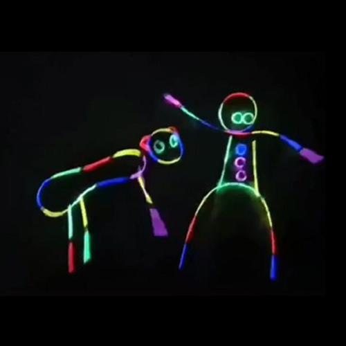 XV抖音荧光棒儿童玩具同款夜光发光网红手环一次性人体造型衣服舞
