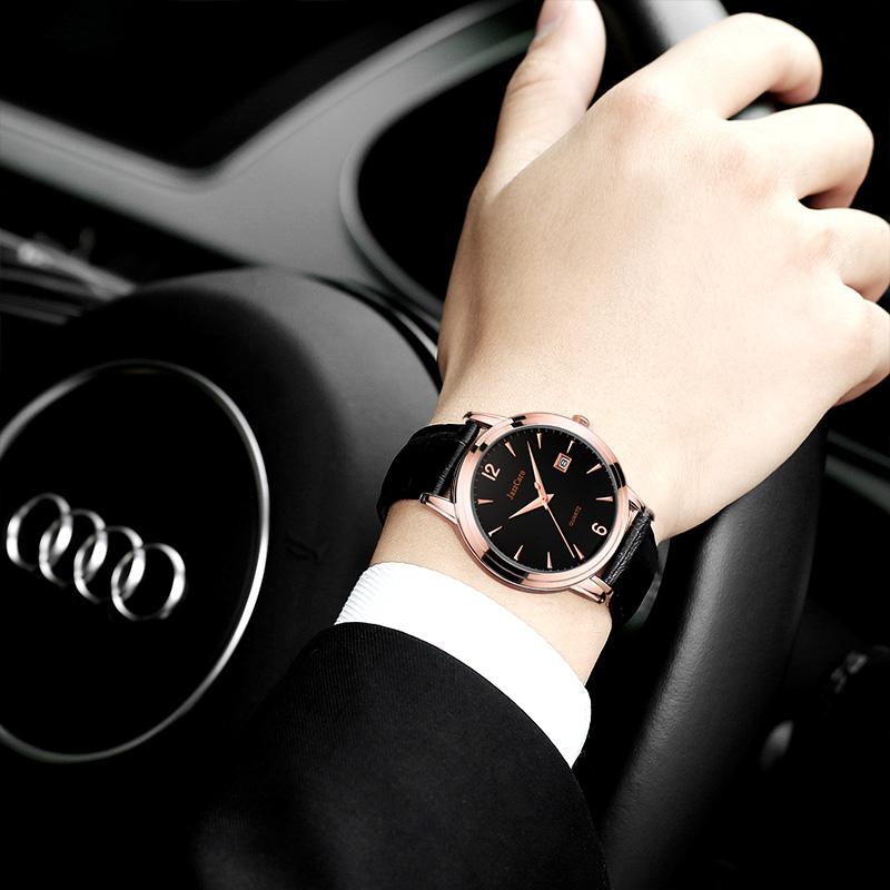 手表表皮防水时尚潮流2019新款瑞士男士简约v手表男学生带李现同款
