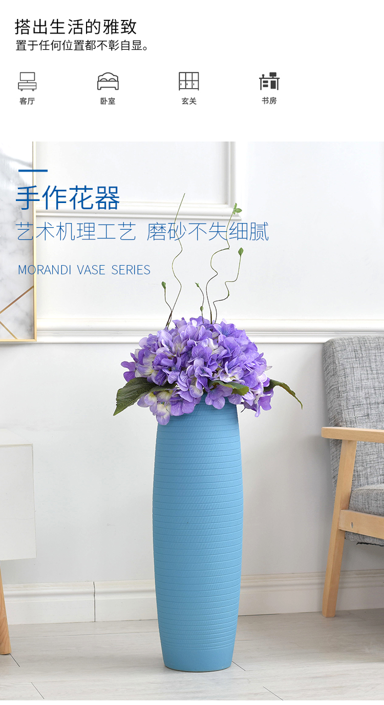 No flower arranging ground suit large ceramic vase contracted household TV ark, Nordic flower arrangement sitting room adornment is placed