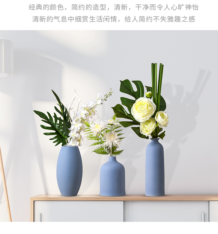 Nordic light and decoration vase dried flowers sitting room adornment table flower arranging TV cabinet ceramic furnishing articles contracted and I style