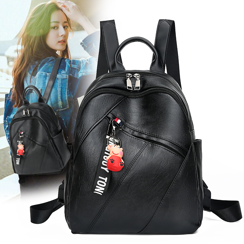Bag female backpack Double shoulder Bag woman 2018 new trend Fashion Korean version hundred Backpack Female tour bag