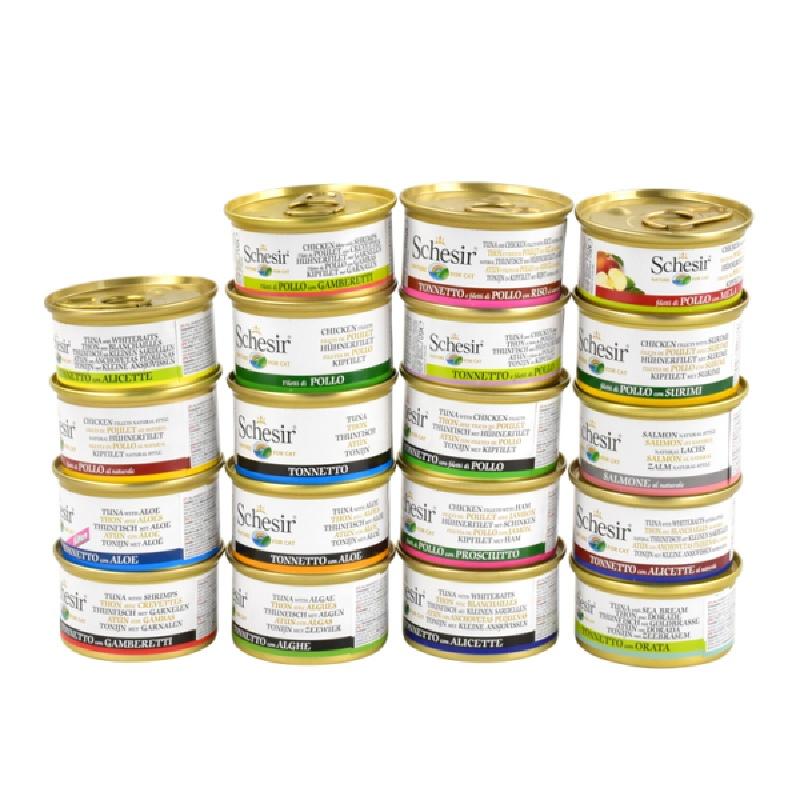 【10罐】Schesir意大利雪诗雅无谷猫罐头进口天然成幼猫零食猫咪
