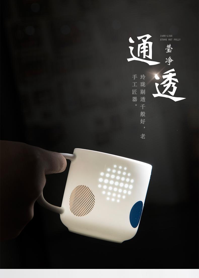Jingdezhen jade BaiLingLong drip a pot of simple but elegant two cups of tea balcony ji blue glaze see colour a little tea