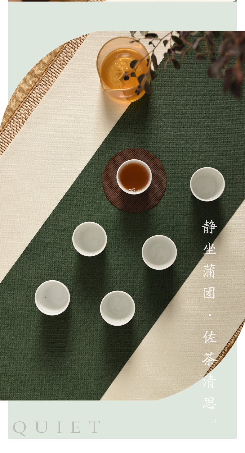 Jingdezhen ceramic parker jade exquisite small white porcelain cup tea Chinese wind high - end tea sets of household appliances solar terms