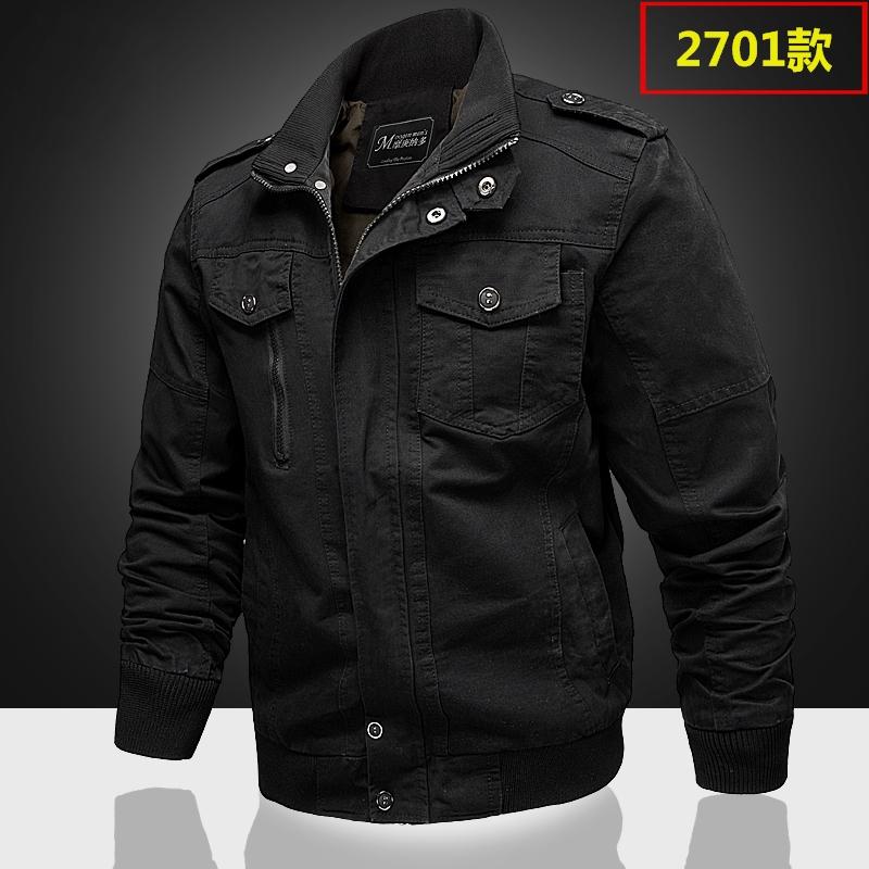 2018 mùa xuân lực lượng đặc biệt của nam giới đa túi quân phục áo khoác bông giản dị dụng cụ áo khoác kích thước lớn lỏng mặc