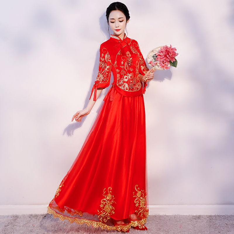Usd 96 63 Show Dress Bride 2020 New Antique Wedding Dress Chinese