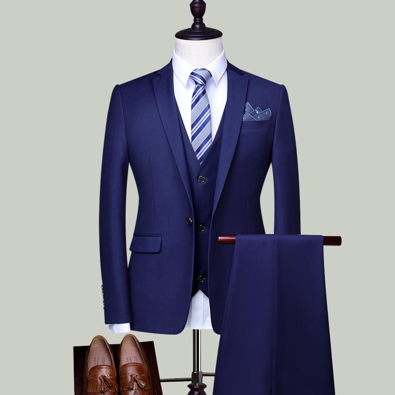 Цвет: Глубокий синий Дэна Коу (куртка + брюки + жилет)