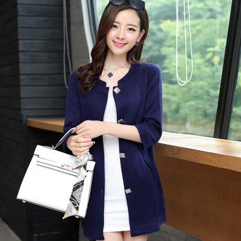 秋季新款时尚韩版休闲中长款修身针织衫潮
