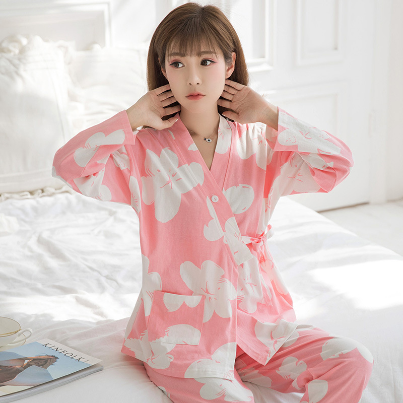 0b415806c75aa Month child clothing summer thin section pregnant women pajamas postpartum  nursing clothes cotton maternal lactation spring and autumn summer home  service