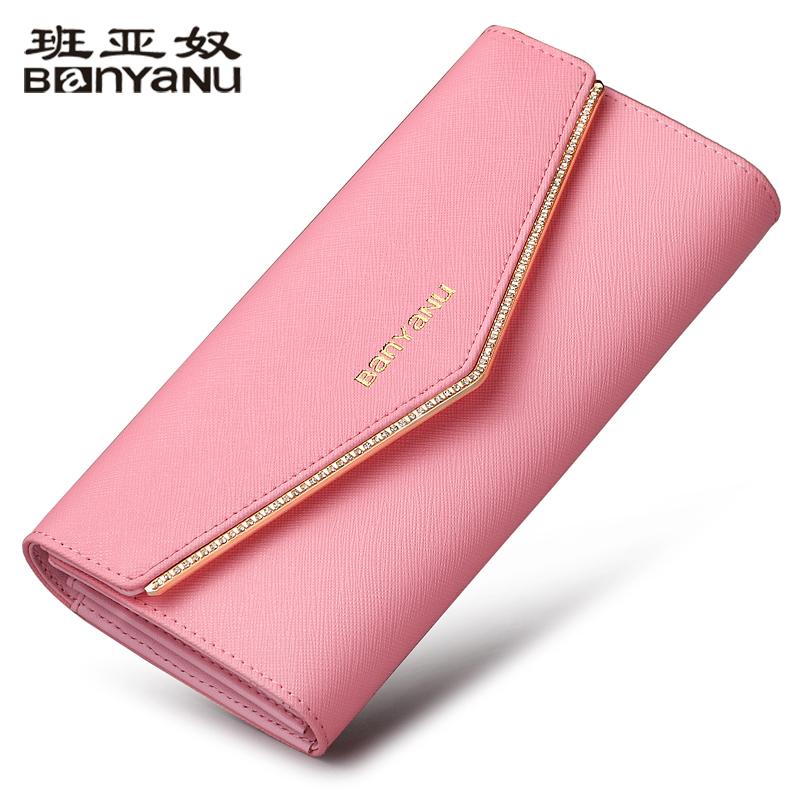 新款女士钱包长款手拿包大容量三折钱包