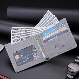 Бумажники, кошельки, ключницы, чехлы,  Бумажник краткое тонкие модельа модель ретро студент случайный бизнес деньги клип горизонтально кожа клип волна личность любитель бумажник молодежь, цена 359 руб