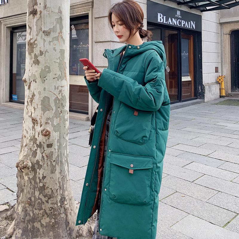 棉衣羽绒女2019新款冬季长款过膝加厚大码棉袄学生装韩版宽松棉服