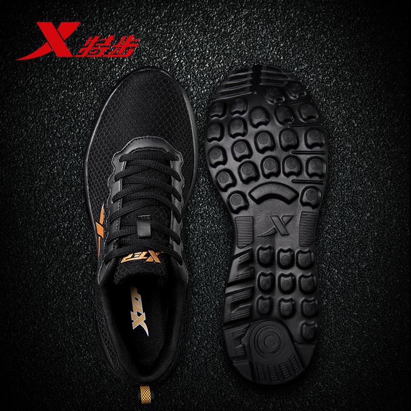 Bước đặc biệt giày nam 2018 mùa hè mới thở giày thường của nam giới đích thực lưới đen tập thể dục giày chạy