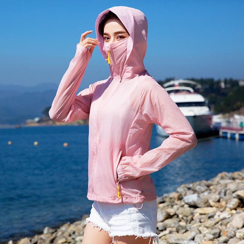 防紫外线UPF50+!中长款防晒衣