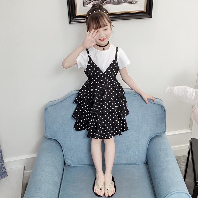 公主连衣裙女童宝宝2-3四4五5六6十7到8岁小女孩韩版洋气夏装裙子