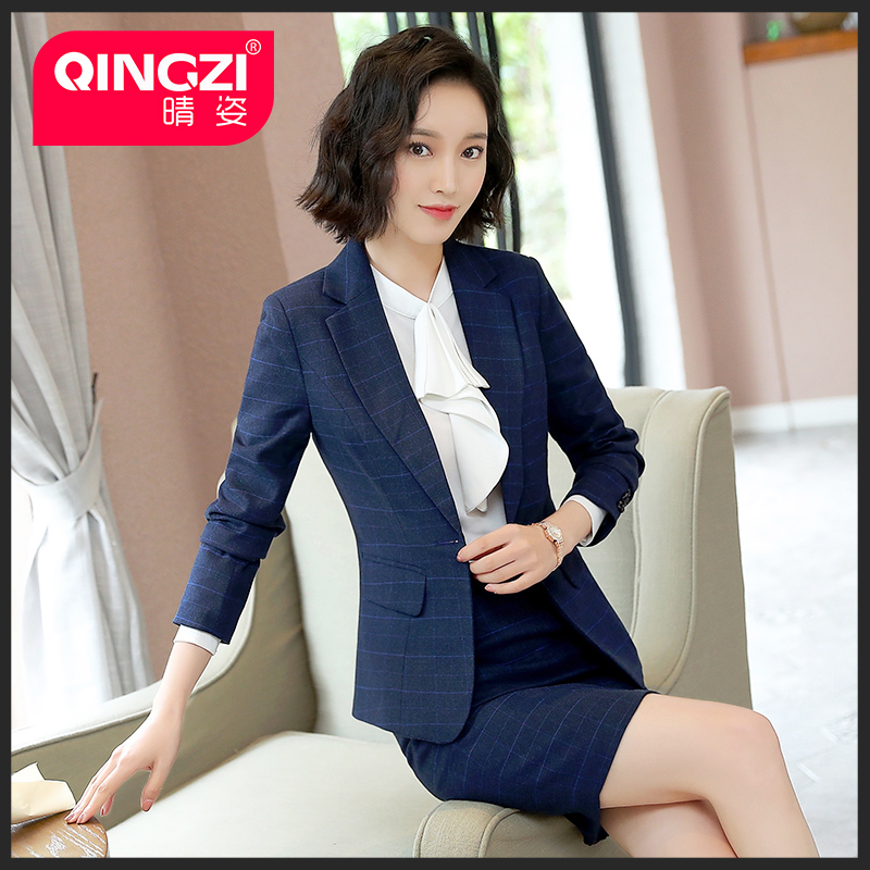 28ab19309755e Plaid career wear women's suits ladies fashion suits women's suits overalls  Korean casual small suit spring and autumn