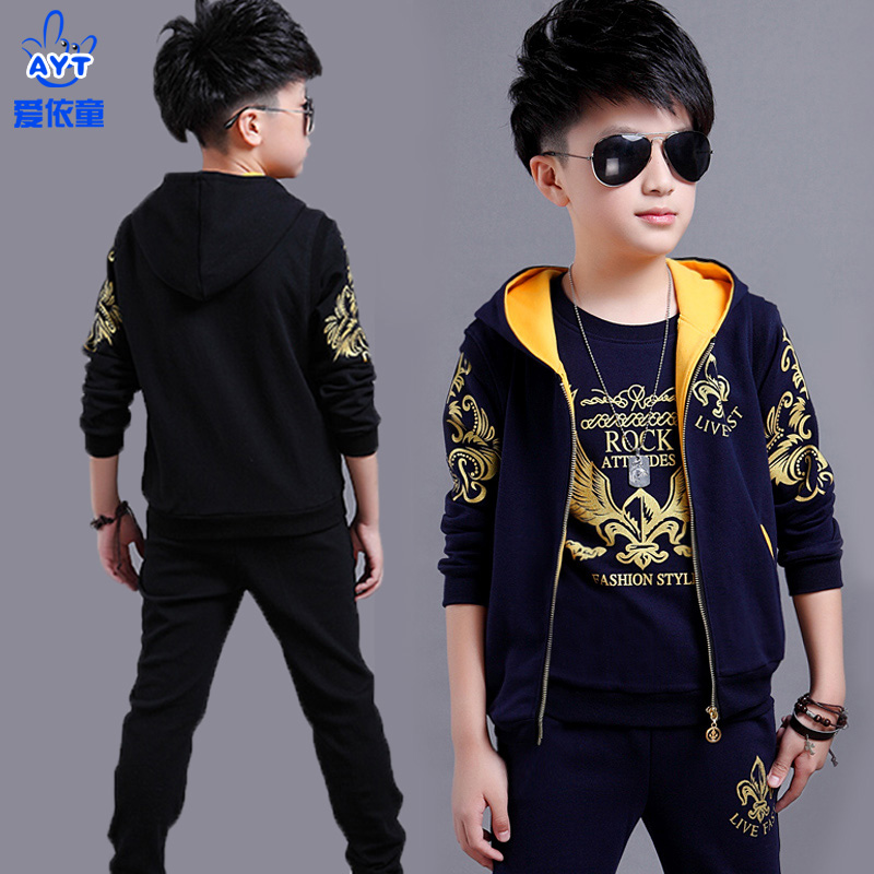 faae4c3f9e1f Children s clothing boy autumn suit 2018 new Korean version of the ...