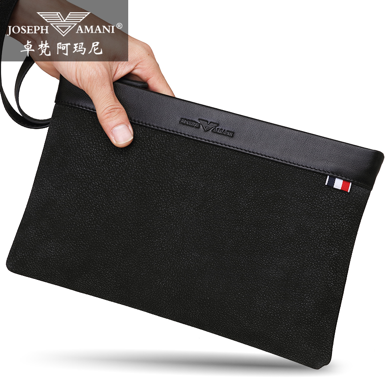 d395cd965a 2018 new Zhuo Fan Armani men's handbag men's tide leather casual clutch bag  leather envelope bag men's bag