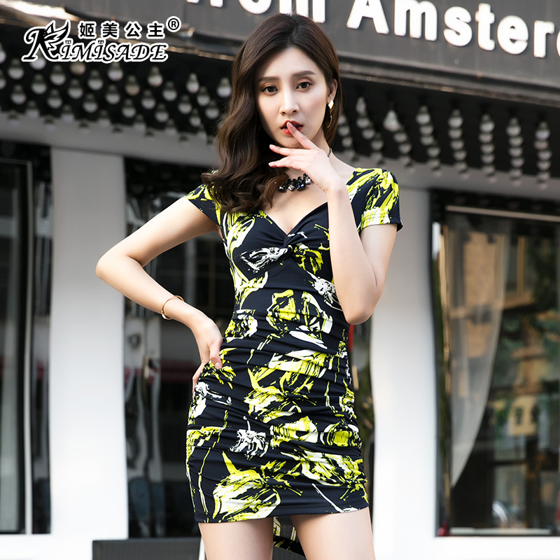 Nightclub sexy dress spring and summer new low-cut was thin KTV miss dress  Slim e310b225a