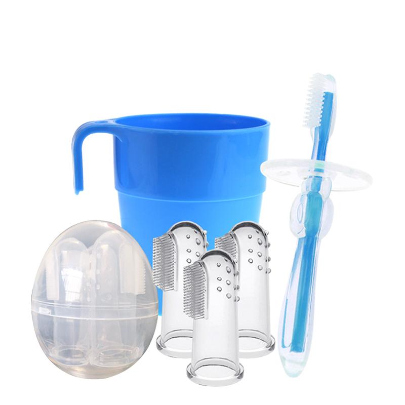 婴儿牙刷宝宝婴幼儿硅胶手指套牙刷软毛训练0-1-2-3岁儿童乳牙刷