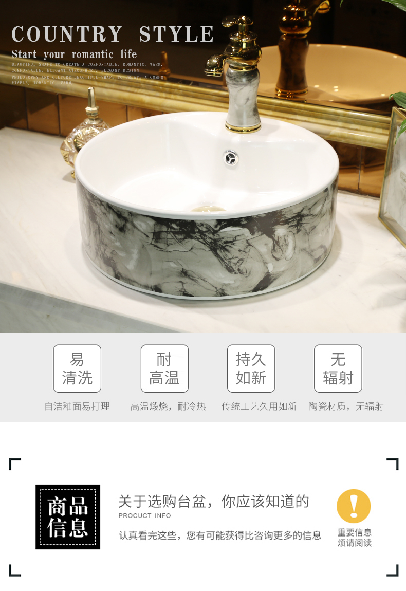 Ceramic art on the stage basin sink restoring ancient ways round the small family household toilet small creative for wash basin