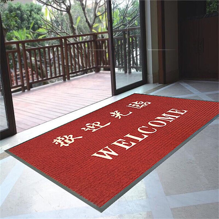 Welcome To Water Absorbing Mats Foot Pad Hotel Restaurant Entrance Door Mat Non Slip Suede Carpet Custom