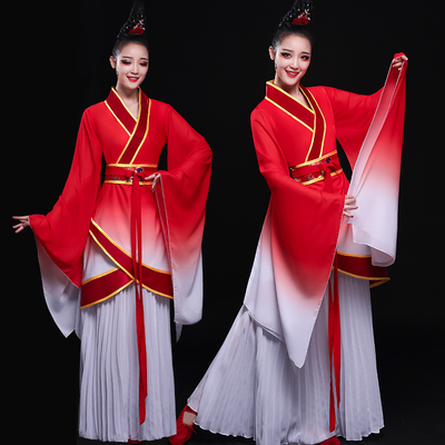 Chinese Folk Dance Costumes Classical Dance Costume Female Chinese Fengshui Sleeve Modern Dance Costume Ancient Chinese Dress Adult