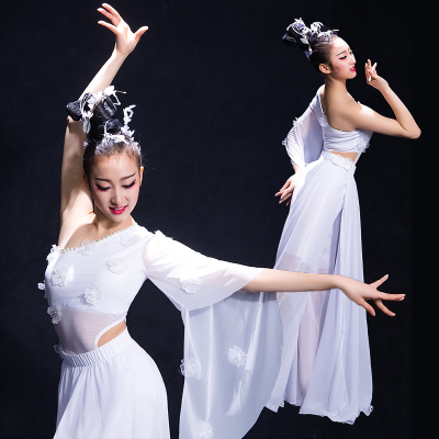 Chinese Folk Dance Costumes Classical dance costume, female umbrella dance costume, water sleeve dance costume, modern dance costume, fairy adult
