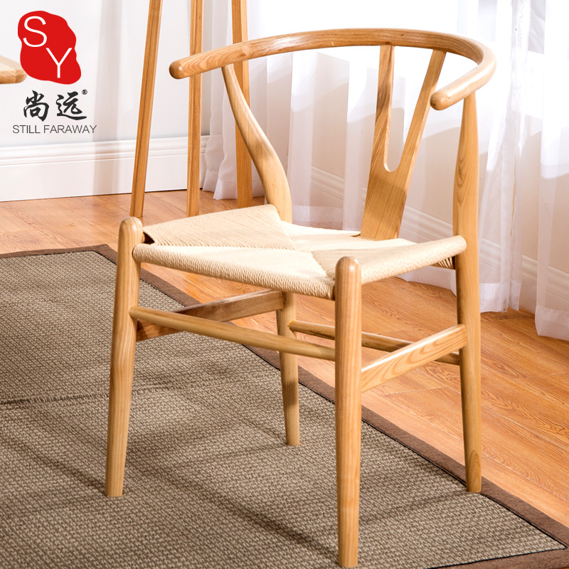Shangyuan Chinese Dining Chair Solid Wood Western Restaurant Chair Nordic  Cafe Chair Home Wood Computer Chair