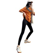 网红薄款瑜伽液体裤紧身显瘦打底裤