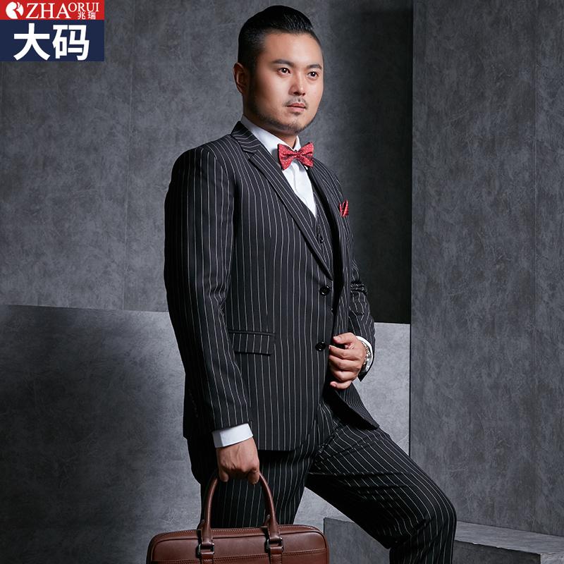 Usd 262 34 Zhaorui Large Size Men S Striped Suit Suit Plus