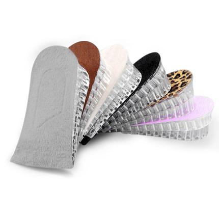 内增高鞋垫女式男士多层加厚隐形休闲2运动透明硅胶增高半垫3CM5