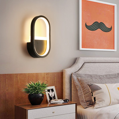 Bed headlights Nordic Wheel Personality Creative Wall Lights Living Room Staircase Room Wall Light Bedroom Wall Light