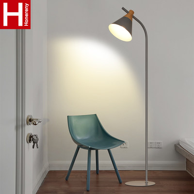 Hongliang North Europe Modern Simple Creative Warm Bedroom Light Bed Tablet Color Macaron Floor Lamp 022