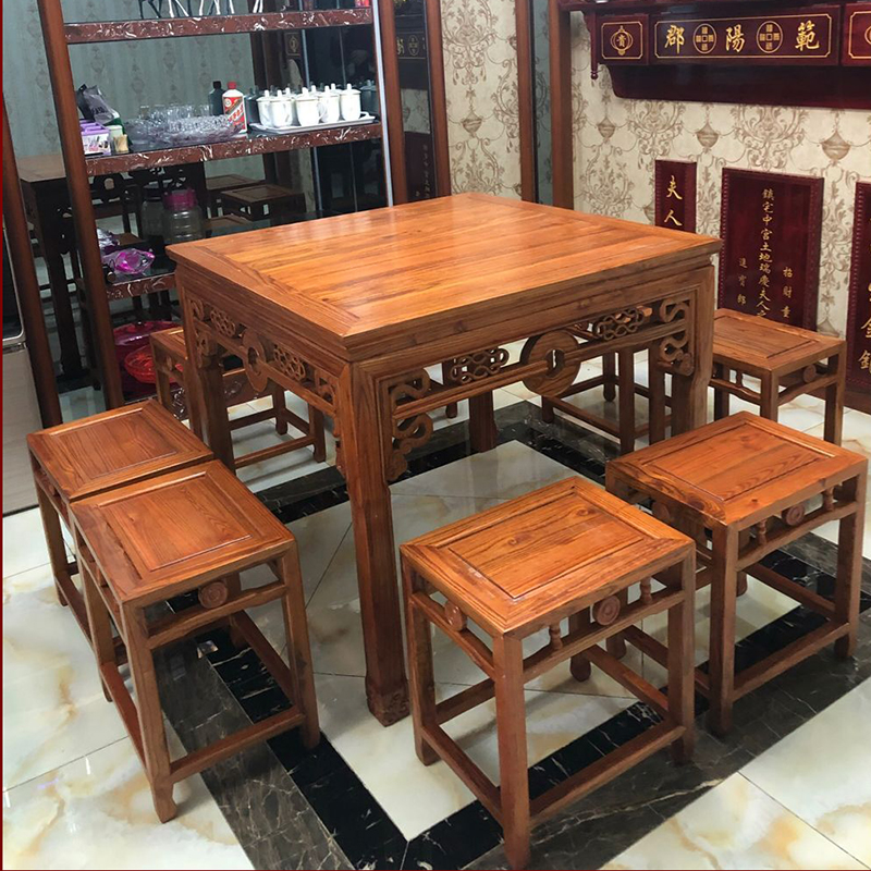 Solid Wood Antique Antique Chinese Table Small Eight Fairy Table