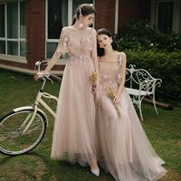 Встряхивая платье подружки невесты 2019 новая коллекция Цю Сиань прогрессивный Юбка вечернее платье для похудения сестры женский банкет длинный фасон