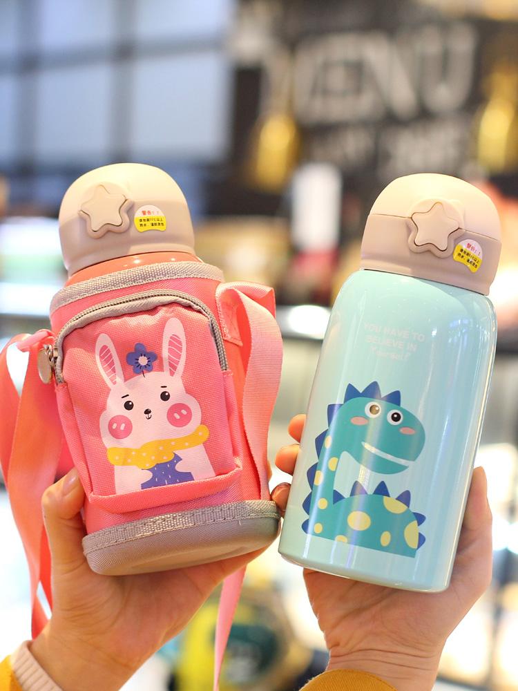 316可爱儿童保温杯带吸管两用宝宝喝水杯子幼儿园小学生便携水壶