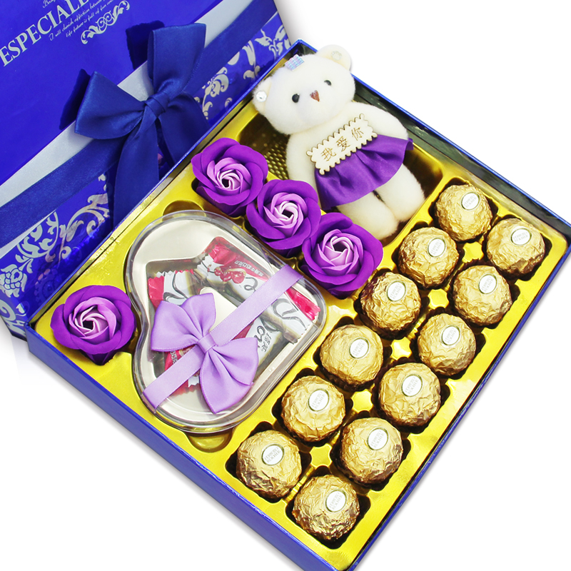德芙巧克力礼盒装 送女友创意diy男女朋友闺蜜生日浪漫情人节礼物_英家券