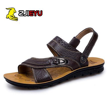 鳄鱼男士沙滩鞋防滑凉鞋