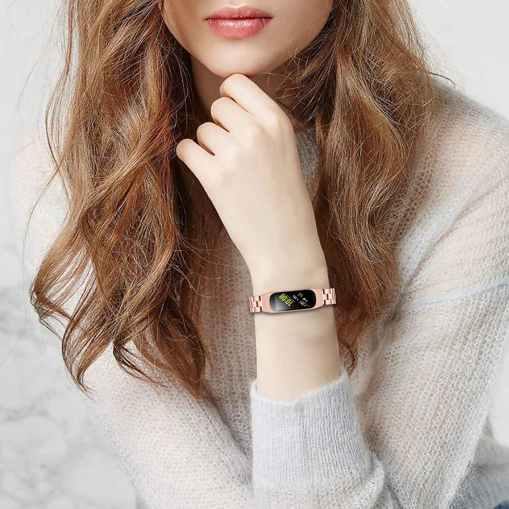 可開發票 適用 三星Galaxy Fit-e SM-R375 手錶帶 三珠金屬不銹鋼手錶帶 替換腕帶 智能手錶帶