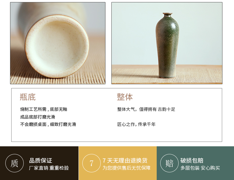Jingdezhen ceramics vase of modern home living room TV cabinet desktop furnishing articles manually flower arranging flower decoration