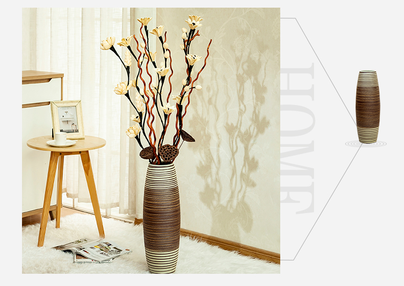 The ground simulation flower vase sitting room home decoration ideas European contracted ceramic flower arranging dried flower vase furnishing articles