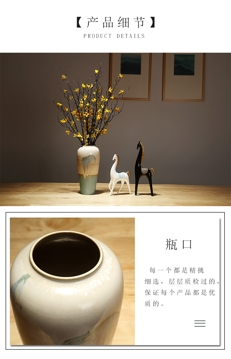 Jingdezhen ceramics vase manual creative new Chinese style European sitting room porch dried flower arranging flowers adornment furnishing articles