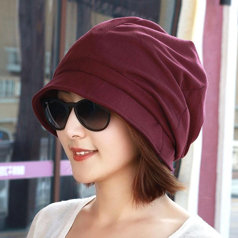 Hat female Korean version of the tide spring and summer big head surrounded  by face small 8fa94b83bad