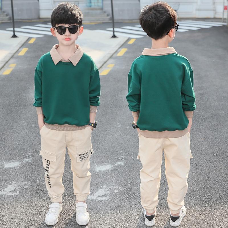 【七色岛】男童春秋新款儿童运动两件套