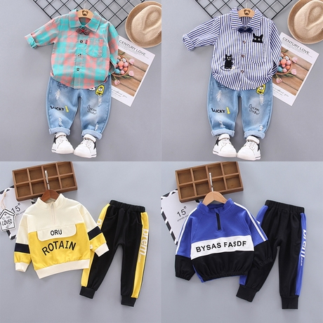   Цена 1559 руб   2020 новый человек ребенок весна установите красивый волна ребятишки младенец младенец одежда два рукава западный стиль 01-2-3-4 лет