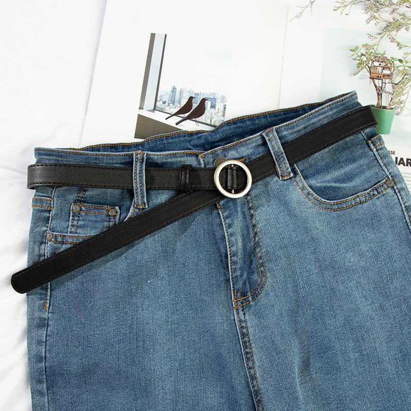 圆扣无孔女式腰带韩版简约皮带优惠3元包邮
