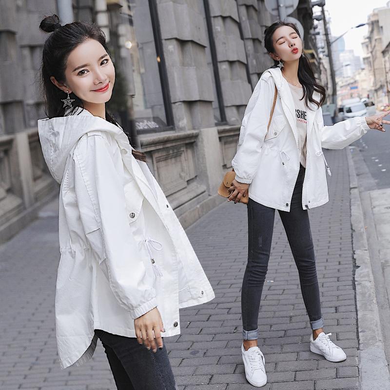 Куртка женщина демисезонный 2018 новая коллекция корейская версия Свободные волосы ягненка студента верх Одевает часть mahjong зимы что-то как bf ветра порта карточки шутника фасон средней длины ветровка